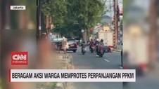VIDEO: Beragam Aksi Warga Memprotes Perpanjangan PPKM