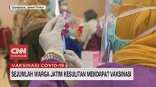 VIDEO: Sejumlah Warga Jatim Kesulitan Mendapat Vaksinasi