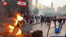 VIDEO: Bentrok Demo Setahun Ledakan Beirut, Puluhan Luka