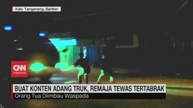 VIDEO: Buat Konten Hadang Truk dan Tawuran 2 Kelompok Pemuda