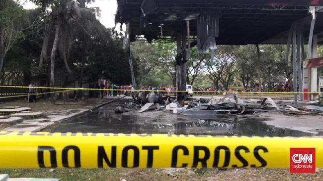 PT Pertamina Regional Sulawesi akan menjatuhkan sanksi terhadap SPBU milik Koperasi Karyawan PT Semen Tonasa setelah peristiwa ledakan.
