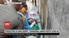 VIDEO: Tunawisma Lansia di Gang Sempit Positif Covid-1