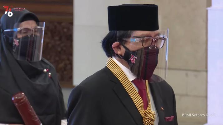 Upacara Penganugerahan Tanda Kehormatan Republik Indonesia, Istana Negara, 12 Agustus 2021. (Biro Setpres RI)