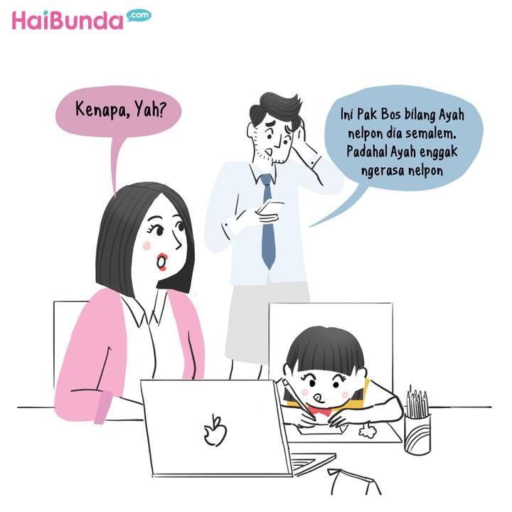 Komik HaiBunda Misteri Telepon Gelap dari HP Ayah