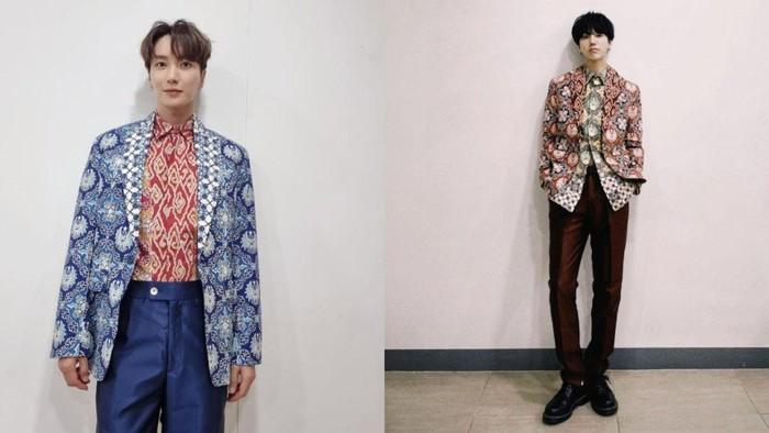 Leeteuk dan Yesung Super Junior termasuk dalam jajaran idol K-Pop yang pernah mengenakan batik! Nggak cuma itu, batik yang mereka kenakan pun merupakan hasil desain dari Gubernur Ridwan Kamil lho, Beauties!/Foto: instagram.com/xxteukxx & yesung1106