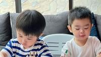 <p>Kedua putra Sandra Dewi dan Harvey Moeis memang sangat pandai. Mereka sudah terbiasa belajar di rumah dan melakukan aktivitas untuk melatih kecerdasan mereka. (Foto: Instagram @raphaelmoeiss)</p>
