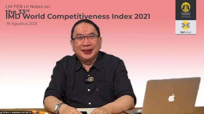Berdasarkan survei World Competitiveness Yearbook (WCY) 2021 yang dilakukan IMD, daya saing Indonesia berada di peringkat ke 37 dari total 64 negara.