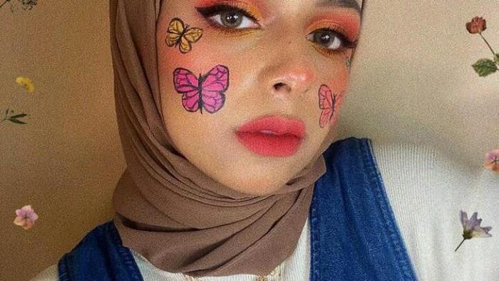 Face Painting ala Dilla Jaidi, Tampil Cantik dan Kreatif