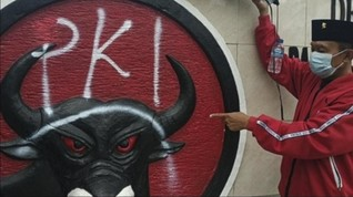 Vandalisme di Kantor PDIP Pacitan, Logo Dibubuhi Kata 'PKI'