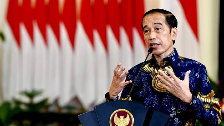 Presiden RI Jokowi di acara Sarasehan 100 Ekonom. (Rusman - Sekretariat Presiden)