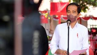 Jokowi Tegang Saksikan Indonesia Juara Thomas Cup 2020