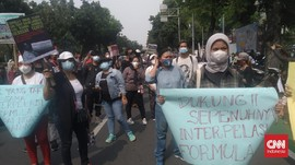 Demo Tolak Formula E di DPRD Jakarta Dibubarkan Polisi