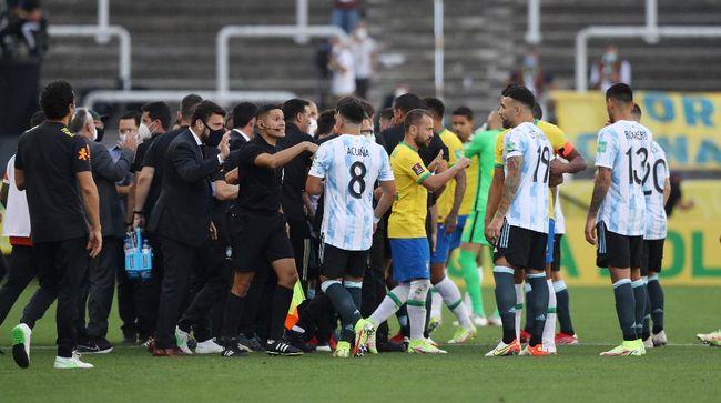 Pernyataan Conmebol soal Laga Brasil vs Argentina Dihentikan