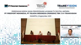 Telkom & Transvision Sediakan Layanan TV Digital di Freeport