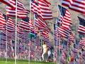 FOTO: Kibar 3 Ribu Bendera AS Peringati 9/11 Kelabu