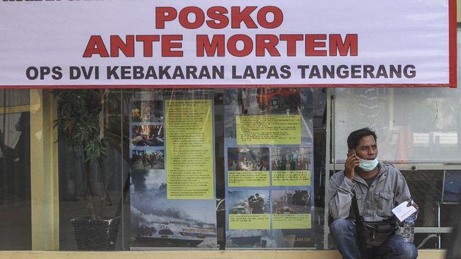 Seluruh korban tewas kebakaran Lapas Kelas I Tangerang atau 41 orang berhasil diidentifikasi. Operasi Tim DVI Polri pun resmi berakhir.