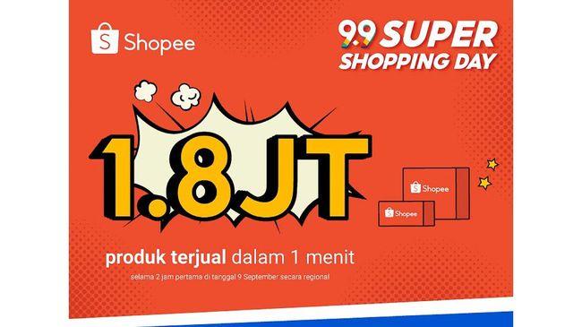 Adapun transaksi individu terbesar dalam 1 jam pertama kampanye Shopee 9.9 Super Shopping Day adalah pembelian 5 buah ponsel senilai lebih dari Rp75 juta.