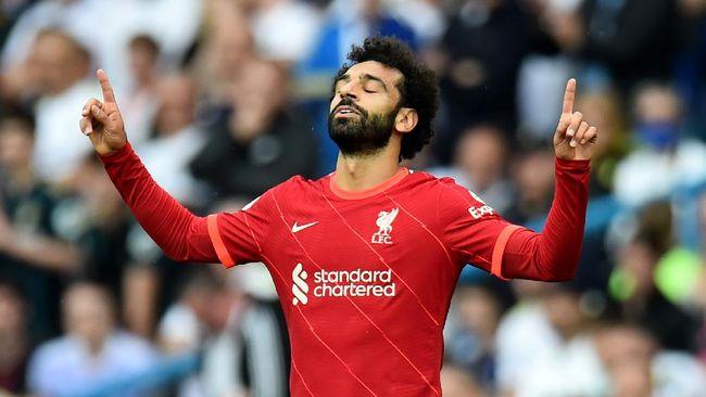 Mohamed Salah punya catatan impresif sering cetak brace saat Liverpool menghadapi Crystal Palace di Liga Inggris.
