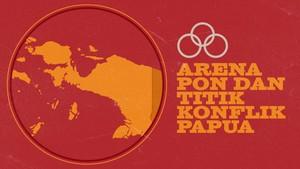 INFOGRAFIS: Arena PON Papua dan Titik Konflik dengan KKB