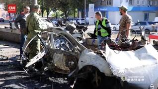 VIDEO: Ledakan Diduga Bom Mobil di Ukraina, 2 Orang Tewas