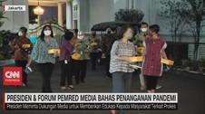 VIDEO:Presiden & Forum Pempred Media Bahas Penanganan Pandemi