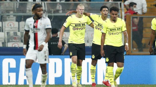 Borussia Dortmund menang atas Besiktas dalam matchday pertama Liga Champions 2021/2022 di Stadion Vodafone Park, Kamis (16/9) dini hari waktu Indonesia.