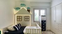 <p>Kasur di kamar tidur Malik juga dirancang khusus dengan bentuk unik. Kasurnya terlihat simpel namun tetap menggemaskan dengan bentuk rumah. (Foto: YouTube Tasyi Athasyia)</p>