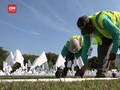 VIDEO: Lautan Bendera Putih Kenang Korban Covid-19 di AS
