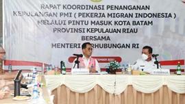 Gubernur Kepri dan Menhub Rakor Bahas Pemulangan PMI di Batam