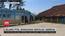 VIDEO: Jelang PTM, Bangunan Sekolah Ambruk