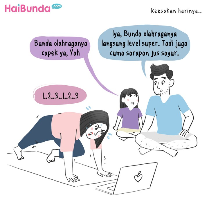 Komik Bunda Mau Diet