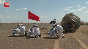 VIDEO: Detik-detik Astronaut China Mendarat di Bumi