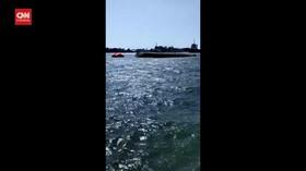 VIDEO: Kapal Penyeberangan Pulau Nusakambangan Tenggelam