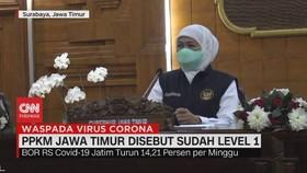 VIDEO: PPKM Jawa Timur Disebut Sudah Level 1
