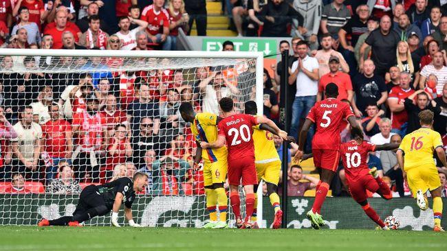 Liverpool menang 3-0 atas Crystal Palace dalam lanjutan Liga Inggris di Stadion Anfield, Sabtu (18/9) malam waktu Indonesia.
