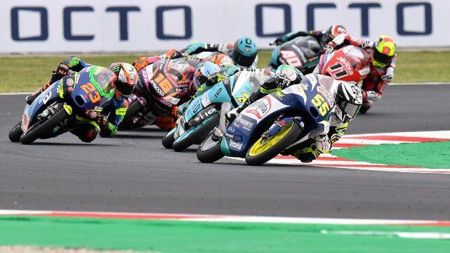 Pembalap Leopard Racing Dennis Foggia menang Moto3 San Marino 2021 di Misano setelah memanfaatkan blunder Romano Fenati.