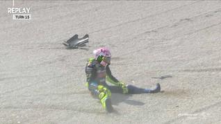 VIDEO: Rossi Kecelakaan di Kualifikasi MotoGP San Marino