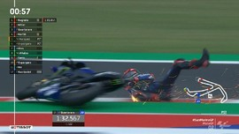 VIDEO: Quartararo Jatuh di Kualifikasi MotoGP San Marino