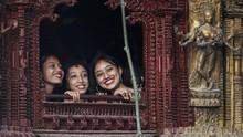 FOTO: Kemeriahan Indra Jatra kala Covid di Nepal Melandai