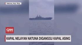 VIDEO: Kapal Nelayan Natuna Diganggu Kapal Asing