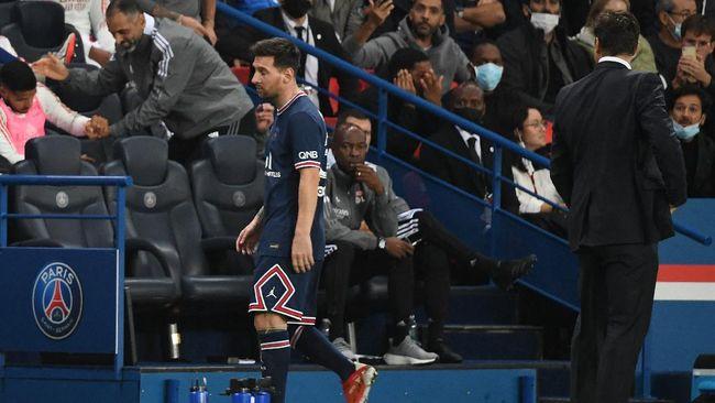Lionel Messi pernah menolak diganti pemain lain jauh ia kecewa ditarik keluar oleh pelatih PSG, Mauricio Pochettino.