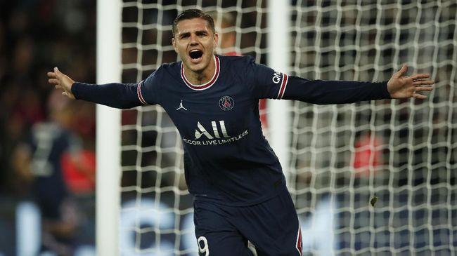 Ketajaman Mauro Icardi turut mengancam Lionel Messi dan Paris Saint-Germain secara keseluruhan.