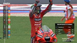 VIDEO: Highlights MotoGP San Marino, Bagnaia Sempurna