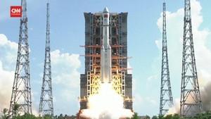 VIDEO: Roket Kargo China Tianzhou-3 Diluncurkan
