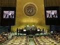 FOTO: Aksi BTS Kembali Berpidato di Sidang PBB