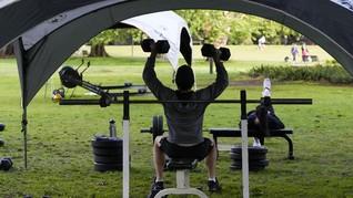FOTO: Warga Sydney Ubah Taman Jadi Tempat Gym