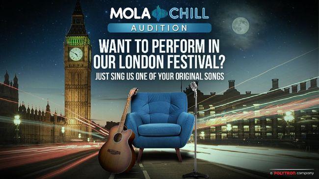 Mola menggaet musisi Beka dan Joy Crookes serta Dominik Prosses sebagai juri #MolaChillAudition London yang akan disiarkan secara langsung, Kamis (30/9) malam.