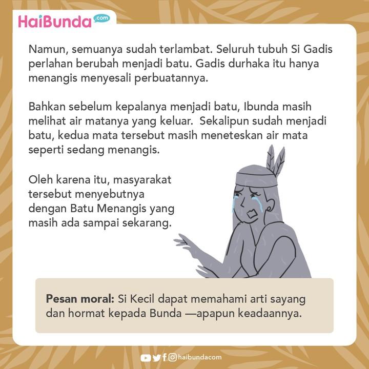 Cerita Nusantara Legenda Batu Menangis