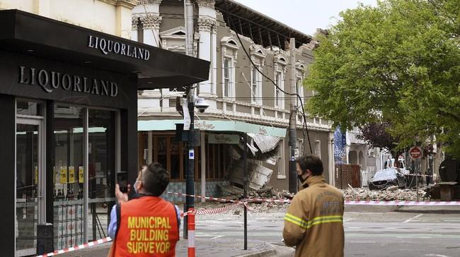 FOTO: Puing Berserak, Australia Porak Poranda Diguncang Gempa