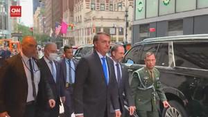 VIDEO: Bolsonaro Cuek Berkeliaran Tak Bermasker di New York